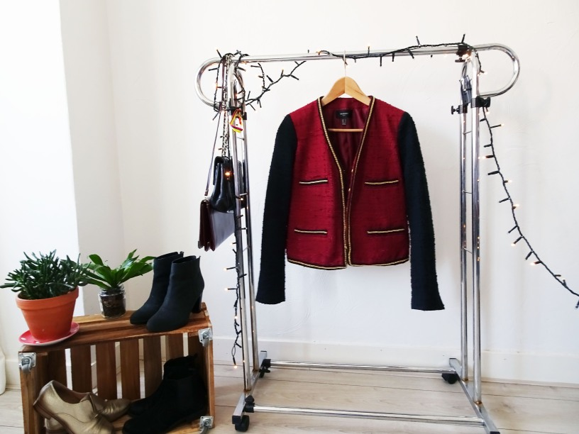 Red and black mango jacket