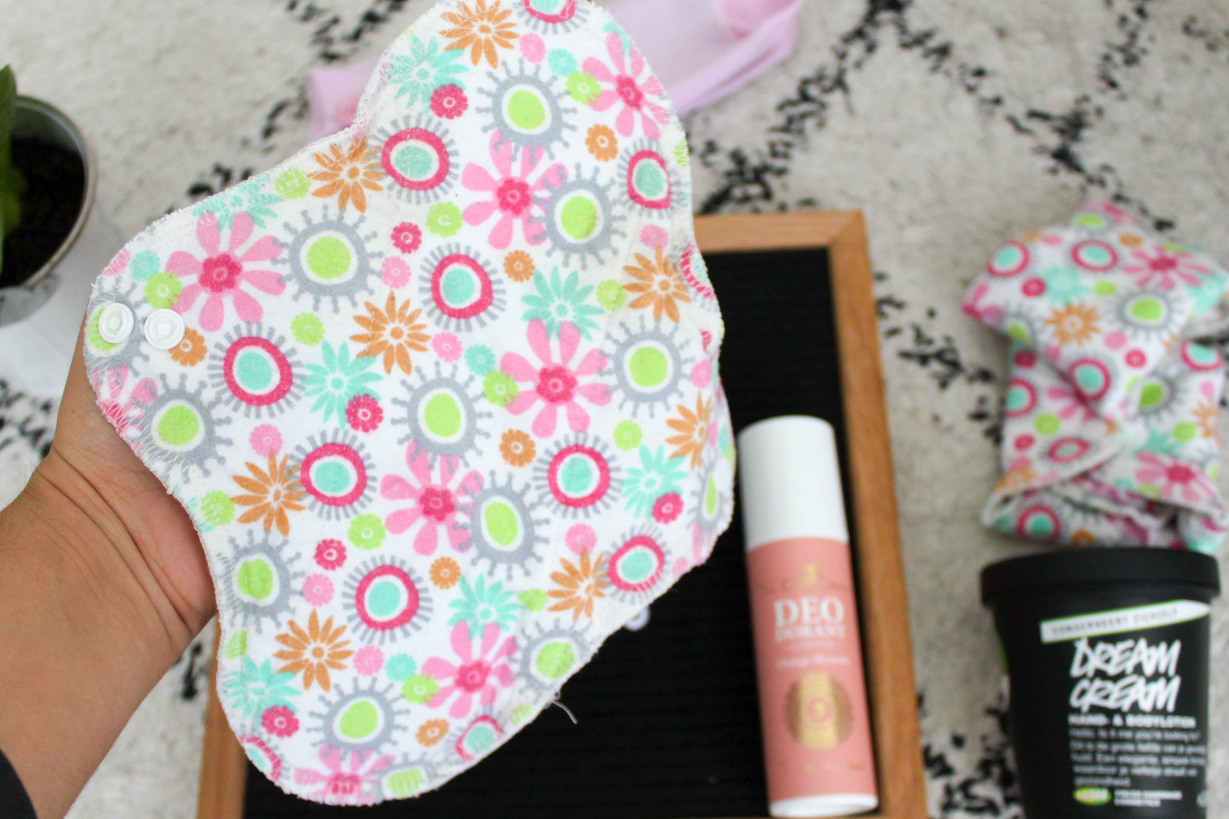 Washable cloth pads