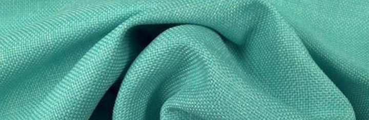 Green acrylic fabric