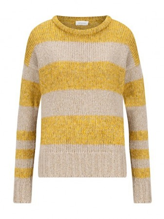 Sustainable sweater Trui Wol Recycled Stripe Honey